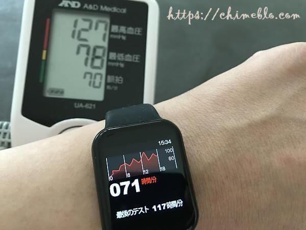 血圧計との比較