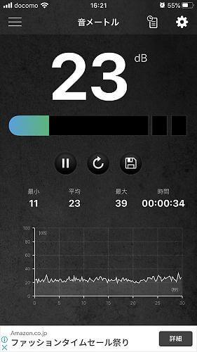 風量3での騒音測定結果
