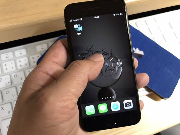 iPhone7の操作風景