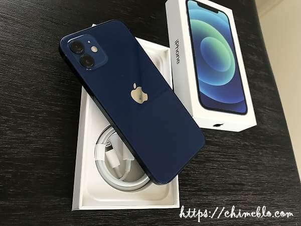 iPhone12ブルーの開封