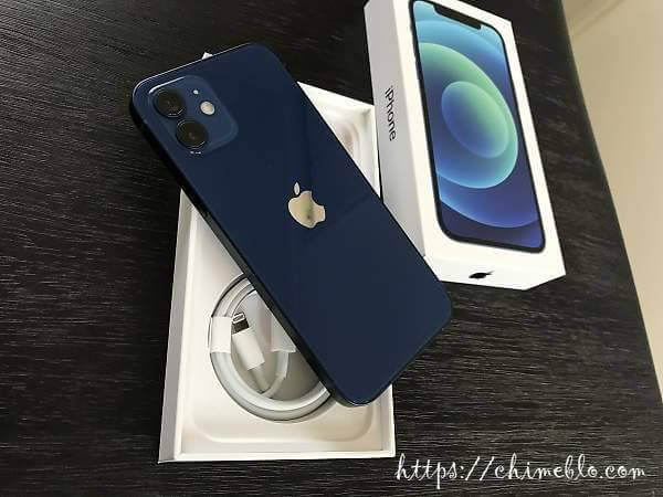 復元する新端末のiPhone12 128GB ブルー