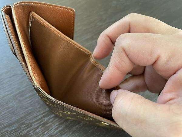 ヴィトンの二つ折り財布 修理後